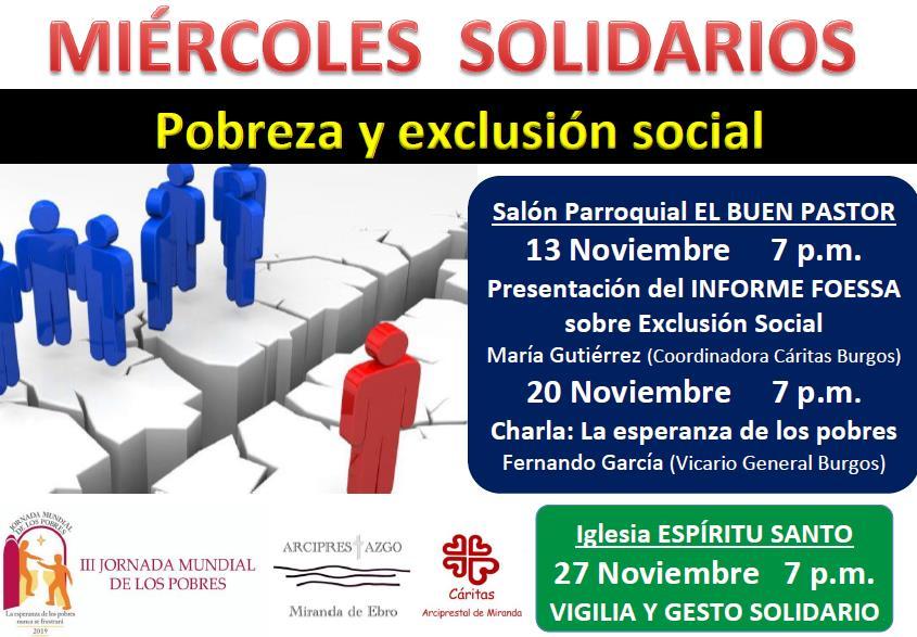 Miércoles solidarios en Miranda