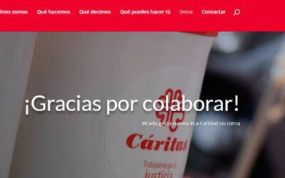Cáritas lanza una web para recaudar donativos online