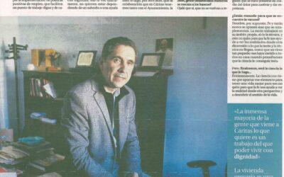 Entrevista a Fernando García Cadiñanos, delegado de Cáritas