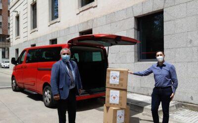 La subdelegación del gobierno entrega material sanitario