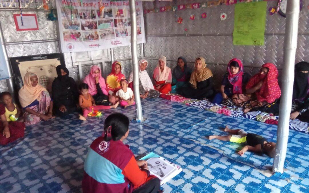 Casi 600 mujeres rohingya de Bangladesh reciben apoyo y formación con el respaldo de Cáritas y el Ayuntamiento