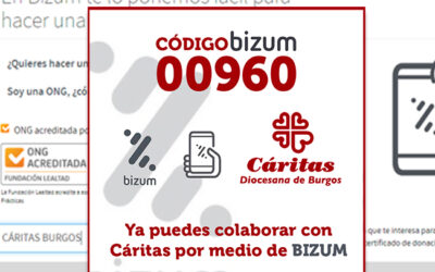 Bizum, un nuevo canal para colaborar con Cáritas