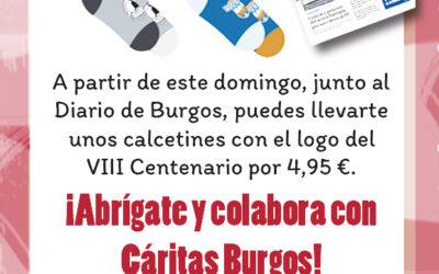 Desde este domingo, los calcetines del Diario de Burgos a beneficio de Cáritas