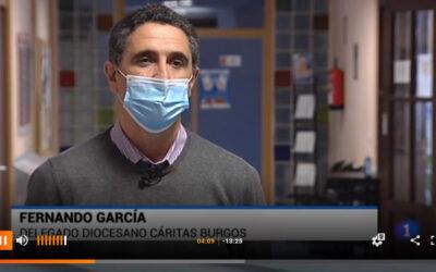 TVE informa sobre la actividad de Cáritas ante el toque de queda