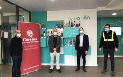 Verallia continúa colaborando con Cáritas Burgos